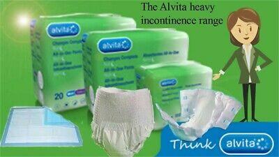 Alvita Incontinence All in One Day & Night Pants (Medium,Large,Extra Large)