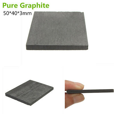 5x Black 99.99% Pure Graphite Electrode Rectangle Plate Sheet Durable 50*40*3mm