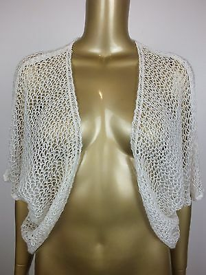 Vintage Shawl Crochet Knot Cardigan Sweater  Cape Jacket Coat Top