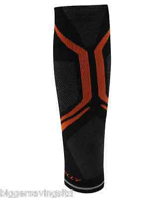 Hilly Vivid Compression Running Sleeve - Unisex - Small - Black + Orange - Calf
