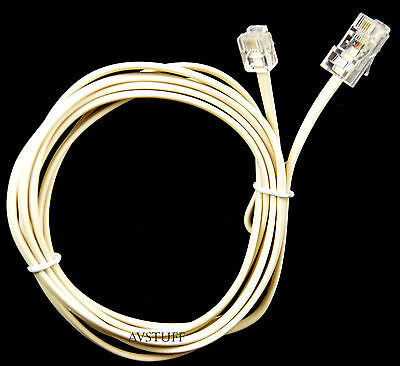 TELEPHONE CABLE LEAD RJ11 to RJ45 PLUGS 2M 2 METRES CONNECT PHONE PABX 6 to8 WAY