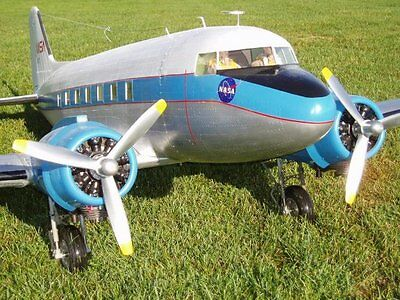 "Douglas DC-3  140"" Giant Scale RC Model AIrplane Printed Plans"