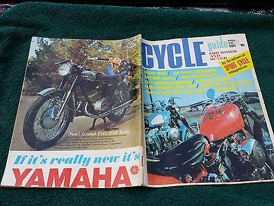 Cycle Guide Apr 67 2Nd Issue Ever, Vol1 # 2 Enfield 750 Honda 160 Yamaha Yl1 100