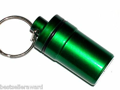 1pc Pill emergency Medicine GN bullet pendant tube bottle container keychain XL