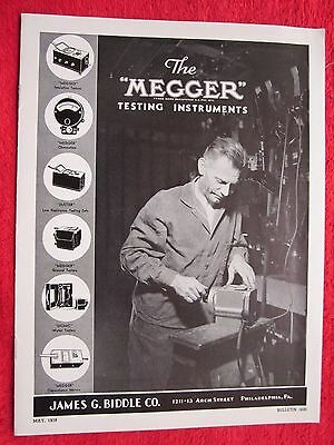 1939 Megger Electrical Testing Instruments Brochure Catalog