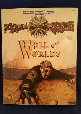 AD&D 2nd Edition Planescape WELL OF WORLDS TSR 2604 Dungeons & Dragons Map EXC-
