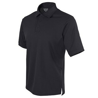 Condor Outdoor Performance Tactical Polyester Collared Polo Shirt Black Large
