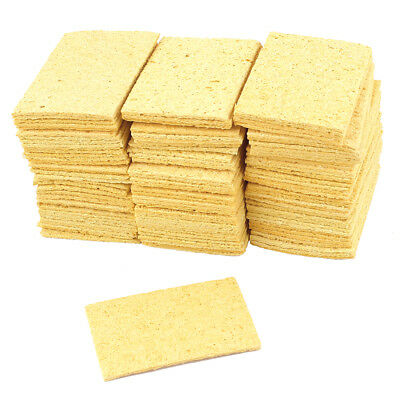 100pcs Soldering Iron Replacement Sponges Welding Cleaning Pads Yellow 50mmx35mm