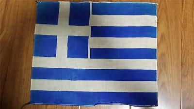 Vintage 1930s made in Manchuria national flag-Greece
