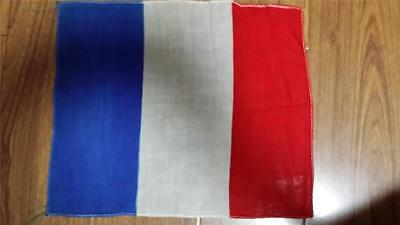 Vintage 1930s made in Manchuria national flag-French