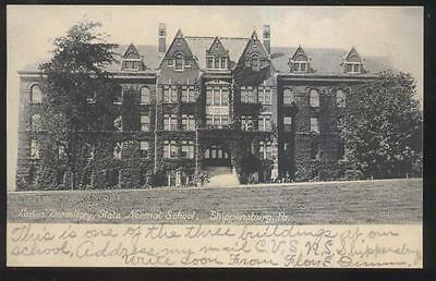 Postcard Shippensburg Pa State Normal School Ladies Dormitory Building 1907