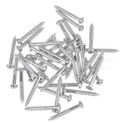 50pcs Chrome Guitar Mounting Screws For Strat Hardtail Bridge Thumb Rest