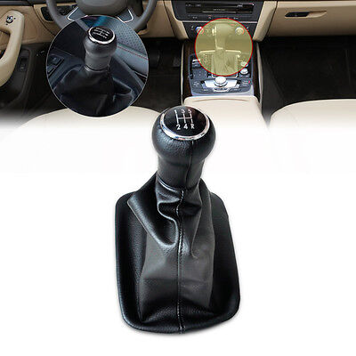 NEW BLACK SHIFT KNOB GEAR GAITOR BOOT 5 SPEED For AUDI A6 C5 A4 B5 A8 D2