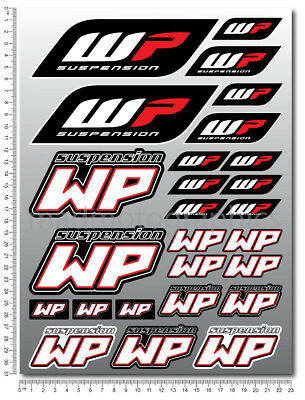 WP White Power shock fork sponsor decals set 26 stickers ktm duke suzuki honda