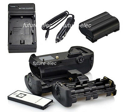 Battery Hand Grip For Nikon D800 D800E D810 as MB-D12+ IR Remote+EN-EL15+Charger