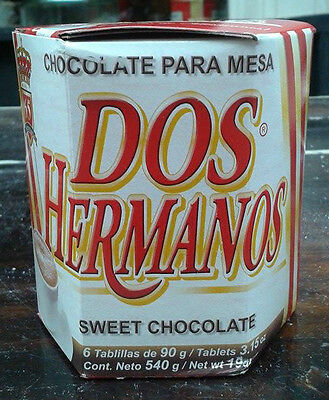 Mexican Drinking Hot Chocolate Dos Hermanos - 540g FREE SHIPPING