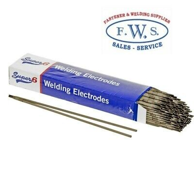 2 X Super 6, 5Kg Pkt Mild Steel Welding Arc Electrodes 6013 2.5Mm Stick Rods Mma