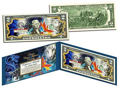 ANCIENT CHINESE MYTHICAL CREATURES Colorized $2 Bill US Legal Tender Lucky Money