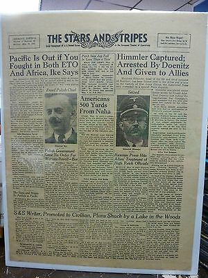 Stars & Stripes 5/14/1945.  Himmler captured photo cover. Paris edition