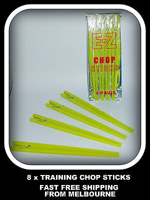 Chopsticks EZ Chopsticks Plastic 8 Piece Very Easy To Use Perfect For Learning