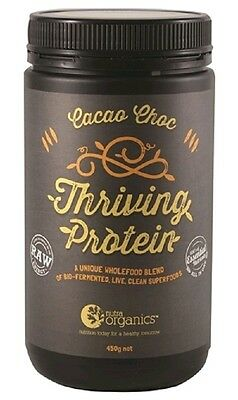 Nutra Organics Thriving Protein Cacao Choc 450g