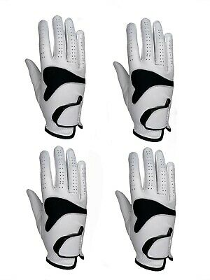 ***New***  (4)  Mens All Cabretta Leather Golf Gloves (Right Hand)