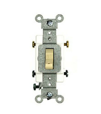 Leviton 120/277V Toggle Switch 2-Pole AC Quiet Commercial Grade Ivory