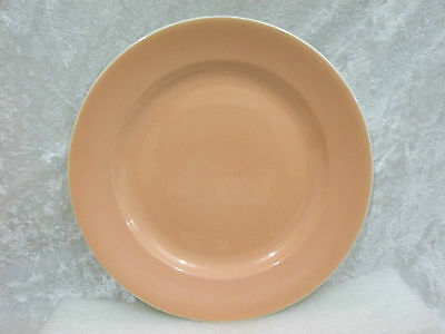"""Poole Pottery - Dinner Plate 10"""" vgc 'peach bloom' colour"""