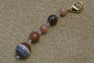 Scissor Fob - Tiger Eye and made with Swarovski crystals