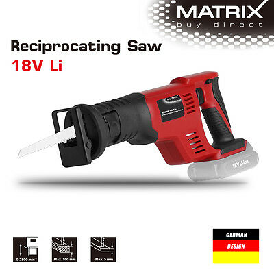 NEW MATRIX 18v Cordless Reciprocating Saw (saw only, no battery)