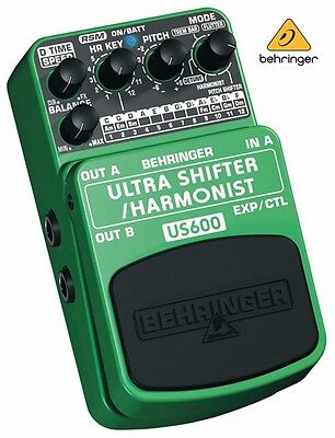 Behringer Ultra Shifter / Harmonist Pitch US600 Guitar Effects Music Pedal Box