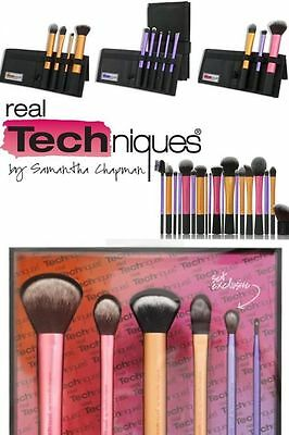 NEW Real Techniques Makeup Core Collection Starter Kit Travel Essential Brushes