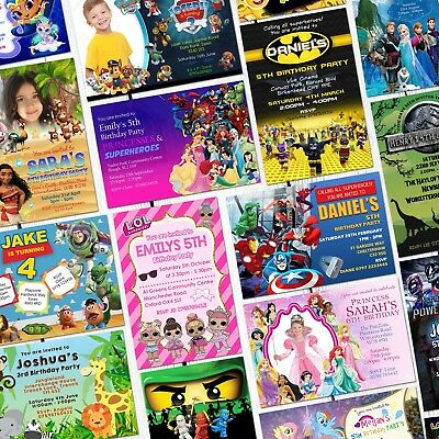 Personalised Birthday Invitations Party Invites Childrens Kids Joint