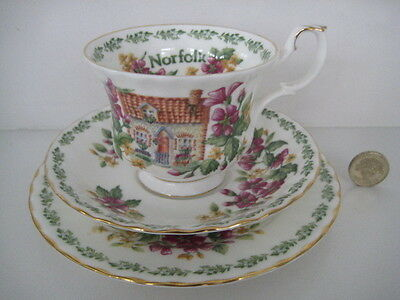 Royal Albert England Very Pretty Trio Cup Saucer Plate Norfolk Country Cottage