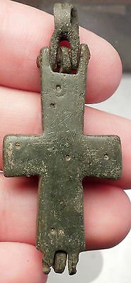 Ancient Medieval Christian Byzantine Reliquary Cross circa 800-900AD i51577