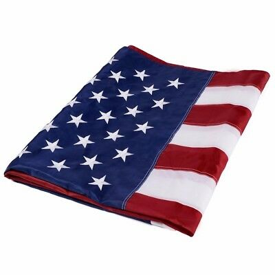 5x8' FT Embroidered Embroidery USA US Sewn Starts Brass Grommets American Flag