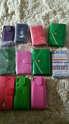 BULK Lot Wholesale 11x Mobile Phone Cover Case Wallet for Iphone 4/ 5 Samsung s4