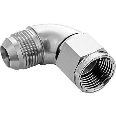 Proflow 543-10HP 90 Degree Full Flow Fitting Male To Female -10AN Polished