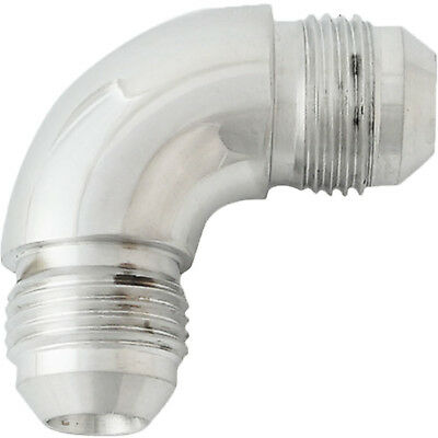 Proflow 521-08HP 90 Degree Male Flare Forged Union Fitting -08AN Polished