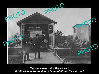 OLD LARGE HISTORIC PHOTO OF SAN FRANCISCO POLICE, THE SHOT GUN STATION 1919