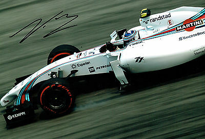 Valtteri BOTTAS SIGNED Williams Formula 1 Autograph 12x8 Photo AFTAL COA