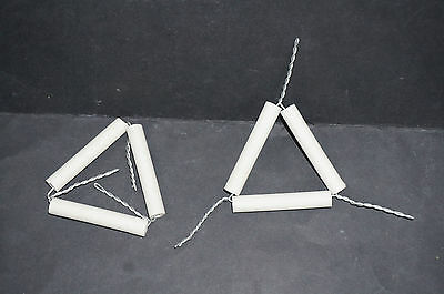 1 x 6cm Pipe Clay Triangle Brand New