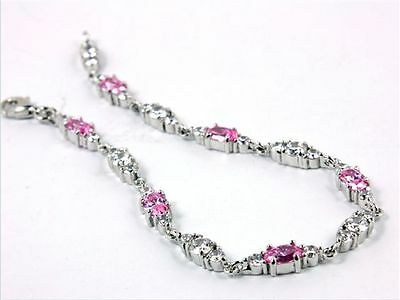 x-ceed.shop Bracelet GENUINE SILVER 925,rhodium-plated,Morganite colourful