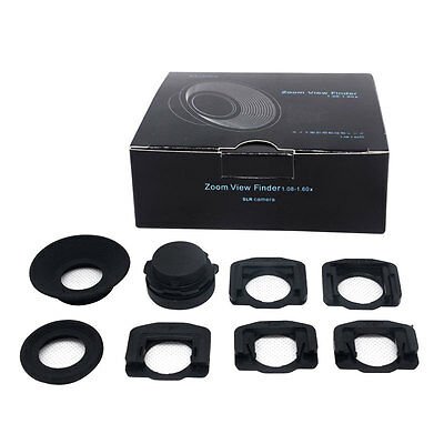 US Mcoplus 1.08x-1.60xZoom Viewfinder Eyepiece Magnifier for Canon Nikon Camera