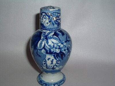 Historical Staffordshire Dark Blue Floral Pepper Pot Floral Urn Ca. 1825