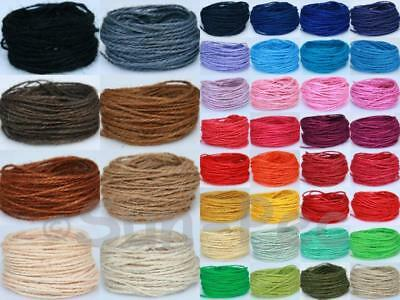 1~1.5mm Corse Twisted HEMP Jute Hessian Bow Craft String Rustic Rope 5-80yrd DIY