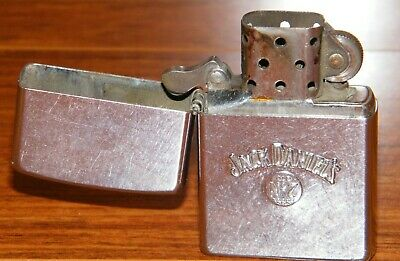Vintage Jack Daniels Old No. 7 Brand Zippo Lighter Street Chrome Made in U.S.A.