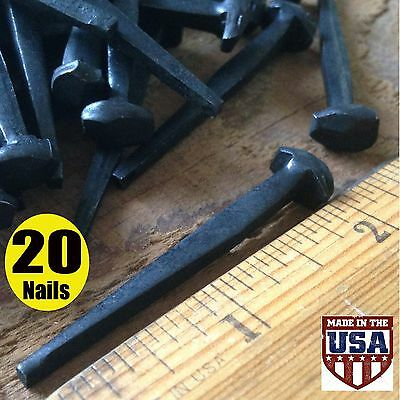 """2"""" ROSE HEAD NAILS ~ Rustic-Vintage Wrought Iron Nails ~ (20)old fashioned nails"""