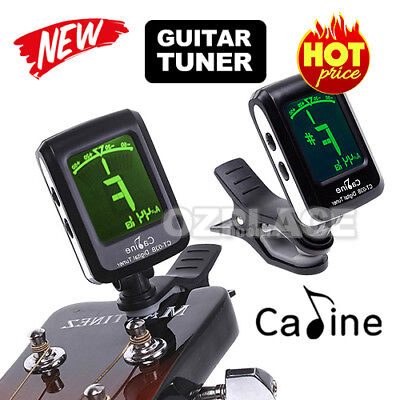 LCD Clip on Electronic Digital Guitar Tuner Acoustic Bass Violin Ukulele Tuning