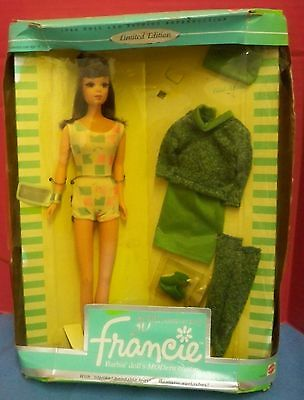 30th Anniversary Francie Doll In Original Box 1996 Reproduction of 1966 Barbie